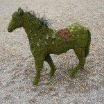 Gartenfiguren Draht u. Moos