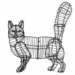 Figuren Aus Draht Selber Machen gartenfigur gehende katze draht figur für moos 44 90 t