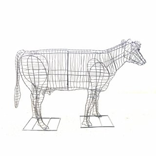 Garten-Figur Kuh Drahtgestell schwarz 122cm lang, 299,90 € - tro