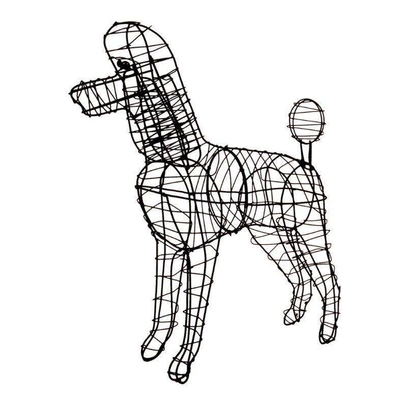 F r alle k nigspudel fans ihr liebling als deko figur aus for Tiere aus metall gartendeko