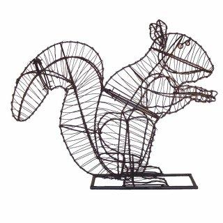 Figuren Aus Draht Selber Machen gartenfigur eichhörnchen draht figur für moos 46 cm tropical