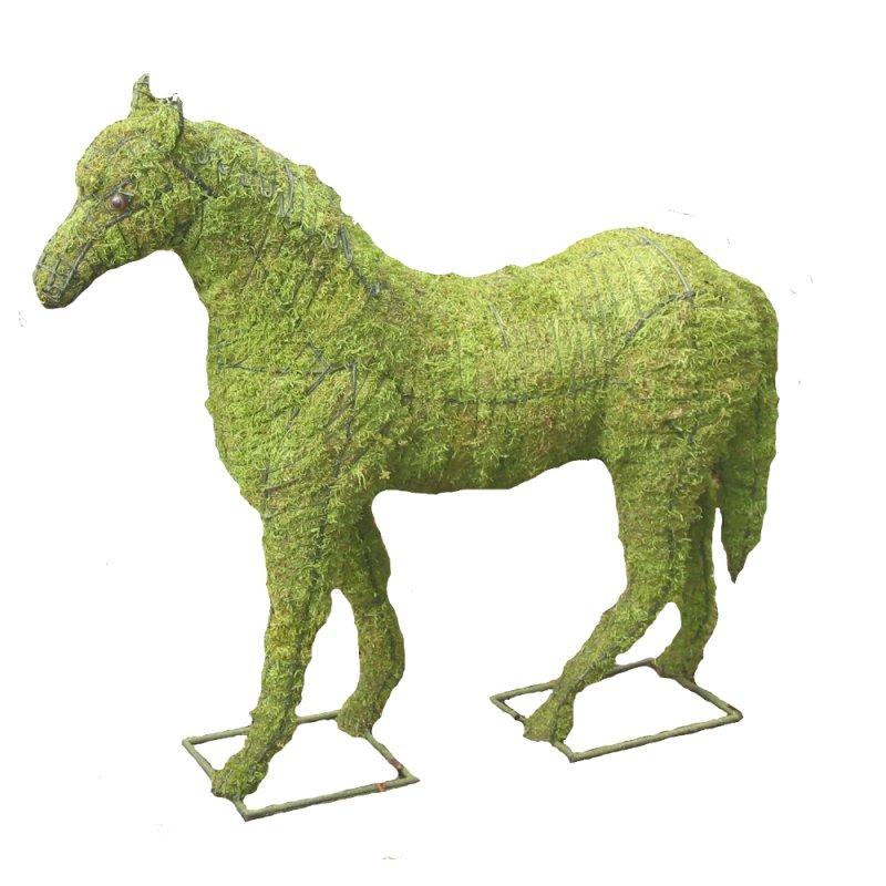 Pferd Garten-Figur Drahtgestell mit Moos 97cm hoch - tropical-world ...