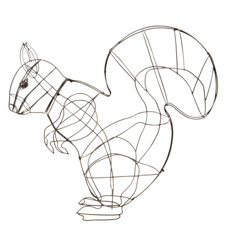 Figuren Aus Draht Selber Machen buxus figur eichhörnchen drahtgestell 60 cm buchsbaum schablone