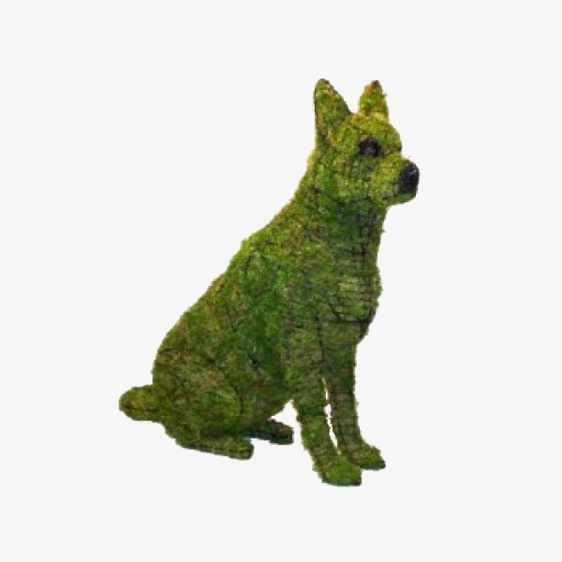 buchsbaum figur sch ferhund sitzend gartenfigur f r buxus. Black Bedroom Furniture Sets. Home Design Ideas